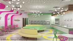 Yogurt Shop Interior Design - several different stores on this page. love it!
