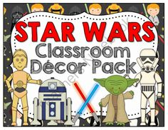 Star Wars Classroom Decor Pack from Barnard Island on TeachersNotebook.com -  (63 pages)  - May the FORCE be with your classroom decor!