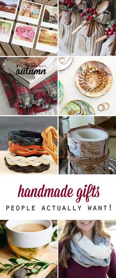 These are fantastic ideas - I'm going to start making some for Christmas! 25 easy DIY handmade gifts people actually want.