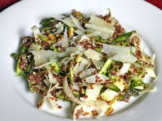 """Mindy Fox's Red Quinoa, Raw Asparagus and Endive Salad with Shaved Parmigiano-Reggiano   Serious Eats: Recipes - Mobile Beta!"""""""