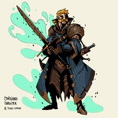Fantasy Character Design, Character Concept, Character Art, Concept Art, Character Ideas, Fantasy Weapons, Fantasy Rpg, Dnd Characters, Fantasy Characters