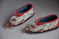 Chinese Zodiac rabbit antique baby shoes