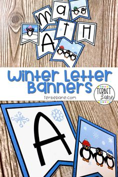 Looking for Winter bulletin board ideas? These adorable Winter themed letter ban… – first day of winter Bloğ Winter Activities, Classroom Activities, Classroom Decor, Preschool Bulletin, Bulletin Board Letters, Winter Bulletin Boards, First Day Of Winter, Kindergarten Lessons, Elementary Schools