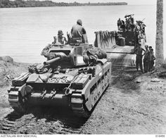 Finschhafen, New Guinea. 27 January Matilda tank nicknamed Cyclone of 1 Australian Tank Battalion arrives on the beach by barge to support AIF in the area. The censor has whited out the . Panzer Iv, Armored Fighting Vehicle, Ww2 Tanks, Photo Dump, Military Equipment, Military History, World War Two, Matilda, Military Vehicles