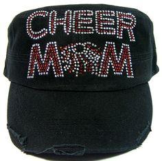 Sports Bling Hats - Cheer 1 Mom Hats 89b09b6af89b