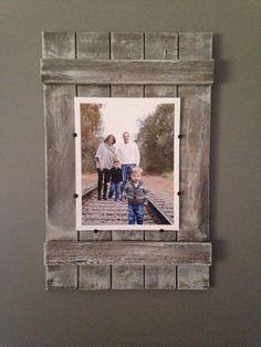 For StL maps - on mantle Rustic Soul Designs Planked Wood Picture Frame - whitewashed, farmhouse style,