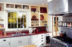 Renewal by Andersen® sliding replacement windows, also referred to as gliding windows, offer more glass and less frame to bring the beauty indoors. Window Over Sink, Kitchen Sink Window, Kitchen Cabinets, Window Replacement, Sliding Windows, Casement Windows, Bright Kitchens, Clean Design