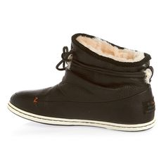 Hub Queen L Wool Boots - Black/White | Free UK Delivery and Returns