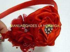 Flores de tela facilitas para bautizo, Video 540,rose from satin ribbon - YouTube