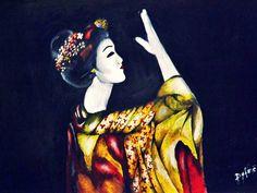 Geisha 100 x 70 cm oil on canvas