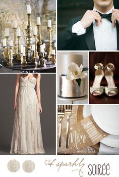 Inspiration board: Winter wedding in gray and blush | Belle & ChicBelle & Chic