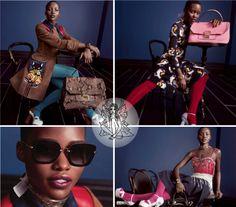 Lupita Nyong'o posa de garota-propaganda da Miu Miu na campanha Primavera/Verão 2014 da grife. A atriz estampa a campanha com looks coloridos e femininos ao lado de Elle Fanning, Elizabeth Olsen e Bella Heathcote. Trouxemos uma prévia da campanha que além das fotos ganhou um pequeno vídeo de divulgação, confira:  http://www.youtube.com/watch?v=gpGxYsjkoxM  #MiuMiu #Fashion #Lupita