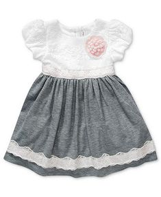 Sweet Heart Rose Baby Dress, Baby Girls Lace Special Occasion Dress - Kids Baby Girl (0-24 months) - Macy's