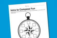 Worksheet Wednesday: Intro to Compasses | Paging Supermom
