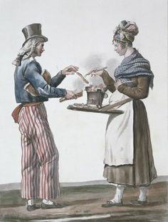 The sausage vendor Fine Art Print by Antoine Charles Horace Vernet