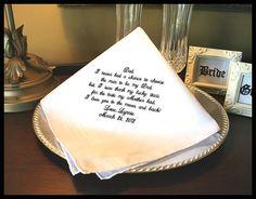 Father of The Bride Handkerchief  Hankie   Hanky  by abbytrey, $19.95