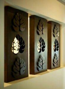 Tropical Ferns Set of 3 Decorative Wall Art Panels | Decorative walls Fern and Walls & Tropical Ferns Set of 3 Decorative Wall Art Panels | Decorative ...