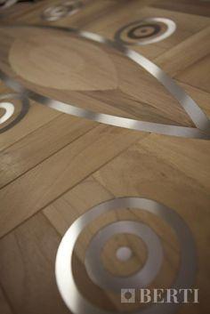Wood Flooring Laser Inlays by Berti. #parquet #parquetlovers