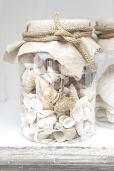 We have collected seashells each visit to Anna Marie Island...and I placed them in mason jars....love it!