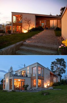 Modern House with lots of windows