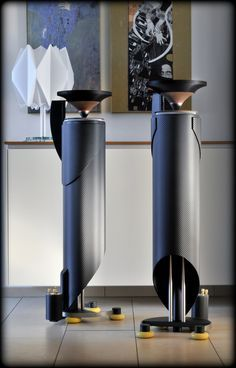 "Custom made ominidirectional high end loudspeaker ""PIPE"" / Designed by A. High End Speakers, High End Audio, Built In Speakers, Subwoofer Box Design, Speaker Box Design, Horn Speakers, Diy Speakers, Stereo Speakers, Audiophile Speakers"