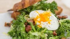 Salade Lyonnaise Recipe   Salad Recipes   PBS Food - it is amazing how good a poahed egg is on a salad!