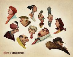 Murder Characters by AudreyBenjaminsen.deviantart.com on @deviantART