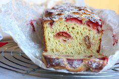 An Inviting Strawberry Cake For A Sweet Breakfast