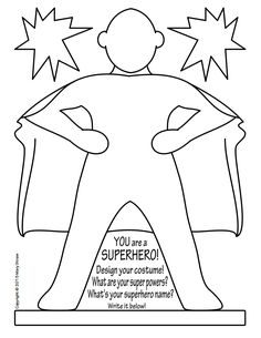 Art Enrichment Everyday OCTOBER Activity Coloring Pages 20 unique activities your kids will love! Activities for October, superheroes, self portrait. Superhero Classroom Theme, Classroom Themes, Superhero Kids, Classroom Teacher, Super Hero Activities, Activities For Kids, Super Hero Crafts, Superhero Coloring Pages, Holiday Club