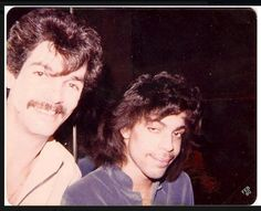 February 1980. Former Warner/RFC Promo guy, Joey Carvello, with a very young Prince.