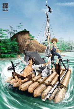Tom Sawyer and Huckleberry Finn by FREEdige on DeviantArt