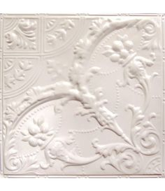 Tin Ceiling Tile Pattern is a crisscrossing arabesque pattern that creates a centerpiece of ornate medallions. A delicate pattern with sophistication. Centerpieces, Ornate, Ceiling, Tin, Romantic Interior, Tin Ceiling, Basement Ceiling, Tile Patterns, Ceiling Tile