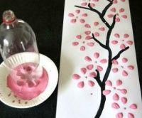 """Kvetoucí strom aneb jak """"namalovat"""" obraz za pár vteřin"""