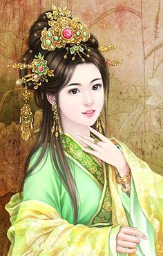 chinese traditional dress in art