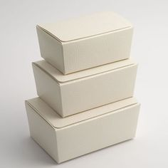 Antique white pelle ballotin boxes - use as a chocolate box or for packaging gifts