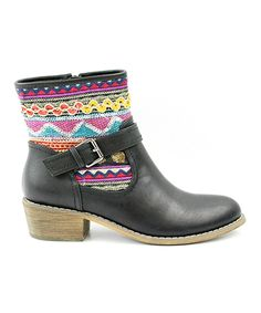 Look at this Corrina Black Topa Geo Ankle Boot on #zulily today!