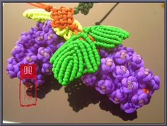 Macrame grapes. With picture tutorial.