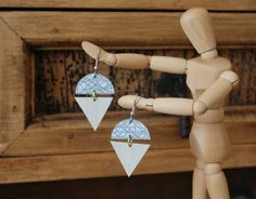 Upcycled Snocone Laminate Earrings by charmingink on Etsy, $15.00