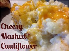 Cheesy Mashed Cauliflower recipe