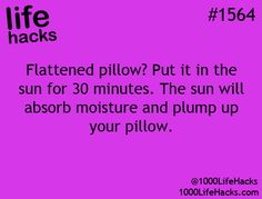 flattened pillow