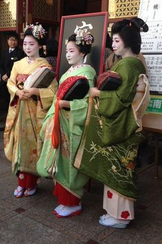 Oiran & Geisha | Kaomise Soken 2015 with… The geiko Fukuhiro and...