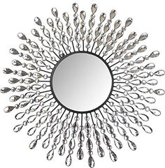 Shop the latest collection of Lulu Decor, Crystal Drop Wall Mirror, 9 Round Beveled Mirror Handmade Living Room & Bedroom from the most popular stores - all in one place. Living Room Bedroom, Black Glass, Decor, Mirror Wall, Beveled Mirror, Wall Mounted Mirror, Glam Master Bedroom, Metal Wall Clock, Miniature Display