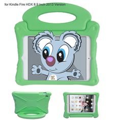 "KAYSCASE KidBox Cover Case for Kindle Fire HDX 8.9"" inch Tablet (Green)"