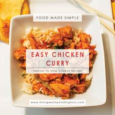 Easy Chicken Curry | 10 Meals in an Hour | Food Made Simple | Freezer Cooking | Main Course Meat | Chicken Recipes