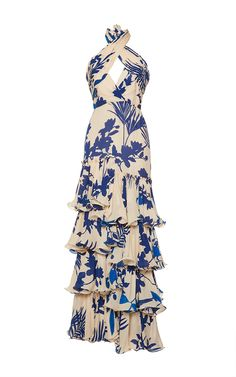 Magdalena Twist Halter Belted Dress by JOHANNA ORTIZ Now Available on Moda Operandi