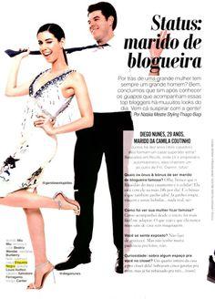 Revista Glamour matéria Marido de Blogueira Diego Nunes veste calça e camisa Etiqueta Negra.