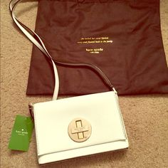 Brand-New Kate Spade Bag Brand New With Tags Kate Spade Bag. Beautiful bag to use in spring and summer for functions. This bag is stylish and will hold lipstick, credit cards and iPhone for special events. Tory Burch Bags Shoulder Bags