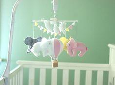 pastel elephant mobile