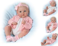 Perfect In Pink Annika weighted baby doll by Ashton Drake