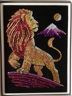 Button Art, Button Crafts, Beaded Embroidery, Embroidery Designs, Cristal Art, Seed Bead Art, Sequin Crafts, Mother Art, Rhinestone Art